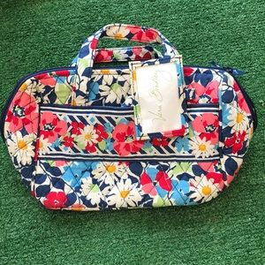 Vera Bradley cosmetic makeup bag lunch box lined